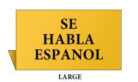 Jewelry Metal Sign, Large, Goldtone, Se Habla Espanol