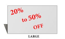 Jewelry Metal Sign, Large, Silvertone, 20% to 50% Off