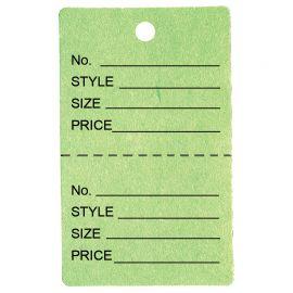 Price Tag / Light Green / 1Pk(1,000 Pcs)