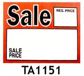 """Message Signs / Sale, 5 1/2"""" X 7""""(50 Pcs)"""