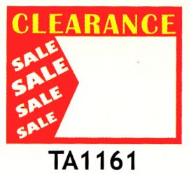 """Message Signs / Clearance, 5 1/2"""" X 7""""(50 Pcs)"""