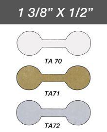 Adhesive Jewelry Tag  Round - Gold / 1Pk(1,000 Pcs)