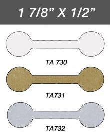 Adhesive Jewelry Tag  Round, 1Pk(1,000 Pcs) / White