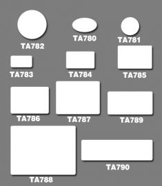 White Adhesive Multi-Purpose Labels(1 Box), Ta786