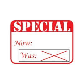 """Self Adhesive Pre-Printed Labels, 1 5/8""""X1 1/8"""" Special Sticker"""