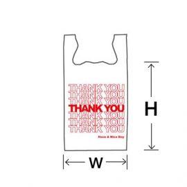 """Jumbo 26"""" White Thank You Vinyl Bag, 15M, 400 Pcs"""