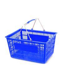 "Plastic Basket, Blue, 17 1/2"" X 11 1/4"" X 9 1/2"""