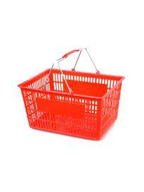 "Plastic Basket, Red, 17 1/2"" X 11 1/4"" X 9 1/2"""