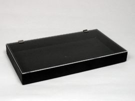 """Plastic Tray With Cover 14.75""""X8.25""""X2H"""