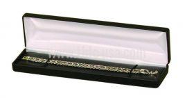 Classic Faux Leather Bracelet / Watch Box, 12 pcs/pk, Black