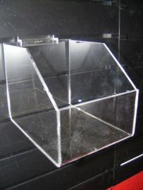 """Bin Shelf For Slatwall Displays 4""""(W)X5.5""""(D)X7""""(H)"""
