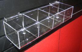 """4 Square Bin Shelf For Slatwall Displays 16""""(W)X4""""(D)X3""""(H)"""
