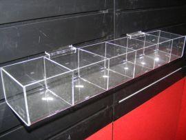 """6 Square Bin Shelf For Slatwall Displays 24""""(W)X4""""(D)X3""""(H)"""