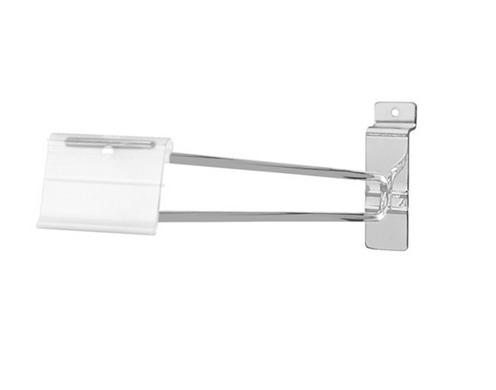 12 Black Slatwall Scanner Hooks w//Label Holders Box of 25